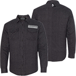 PARTS UNLIMITED CHARCOAL SOLID COLOR FLANNEL QUILTED JACKET