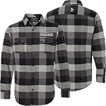 PARTS UNLIMITED BLACK/WHITE CHECKERED FLANNEL