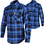 FLANNEL LS TT BLUE/BLK